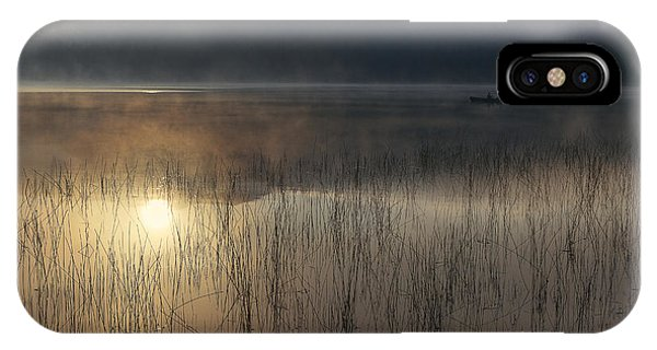 Lake iPhone X Case - Adirondack Sunrise by Magda  Bognar