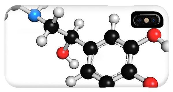 Adrenaline Neurotransmitter Molecule IPhone Case