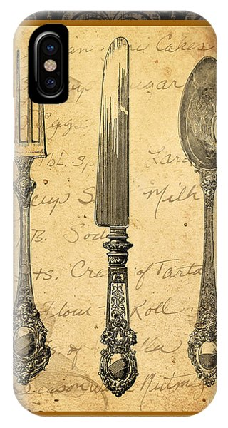 Fork iPhone Case - Adriana-a by Jean Plout
