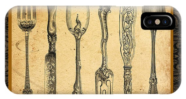 Fork iPhone Case - Adriana-b by Jean Plout
