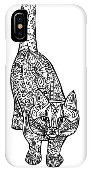 Sketch Book iPhone Case - Adult Antistress Coloring Illustration by Alena Che