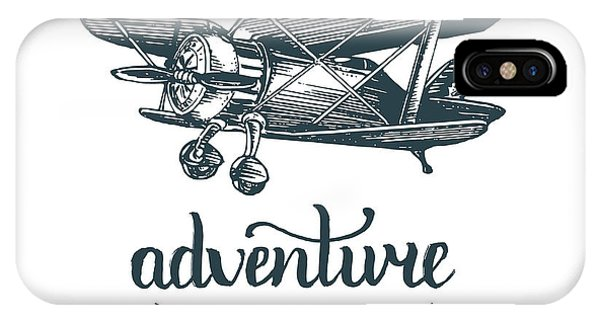 Adventure Awaits Motivational Quote Phone Case by Vlada Young