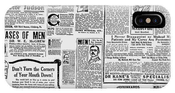Advert - Edwardian Mens Health IPhone Case