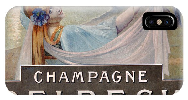 Pub iPhone Case - Advertisement For Champagne Delbeck by Louis Chalon