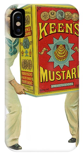 Mustard iPhone Case - Advertisement For Keen's  Mustard Which by Mary Evans Picture Library