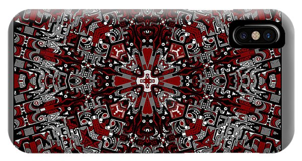 IPhone Case featuring the digital art Aerial Kaleidoscope No 2 by Joy McKenzie
