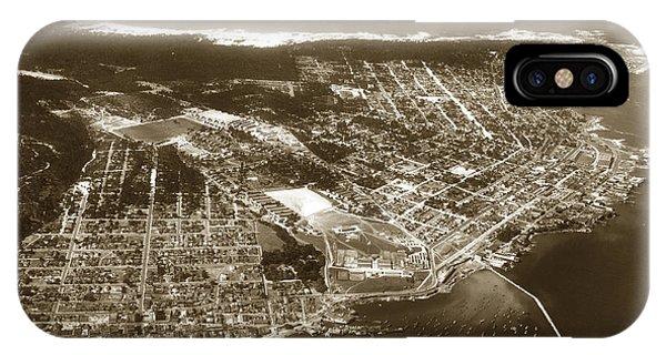 Aerial  Of Monterey Calif. Oct. 25 1934 IPhone Case