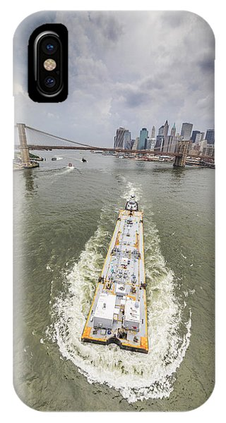 Aerial View - The Barge At The East River IPhone Case