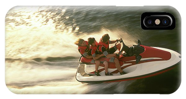 Jet Ski iPhone Case - Aerial View A Family Racing by Joel Sheagren