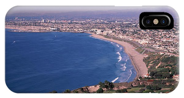 Beverly Hills iPhone Case - Aerial View Of A City At Coast, Santa by Panoramic Images