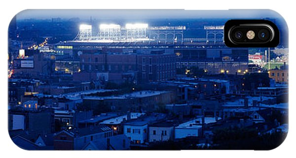Aerial View Of A City, Wrigley Field IPhone Case