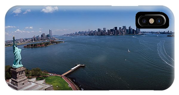 Aerial iPhone Case - Aerial View Of A Statue, Statue by Panoramic Images