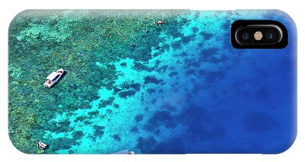 Micronesia iPhone Case - Aerial View Of Beach, Palau by Keren Su
