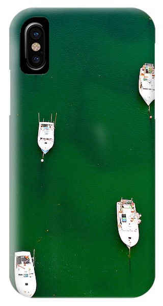 Cape Cod iPhone Case - Aerial View Of Boats In The Sea, Cape by Panoramic Images