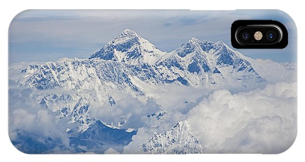 Aerial View Of Mount Everest, Nepal, 2007 IPhone Case