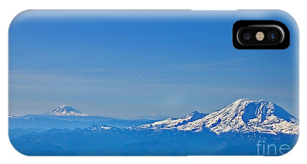 Aerial View Of Mount Rainier Volcano Art Prints IPhone Case