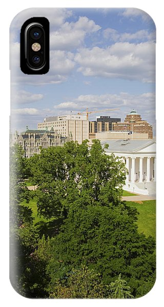 Capitol Building iPhone Case - Aerial View Of The 2007 Restored by Panoramic Images