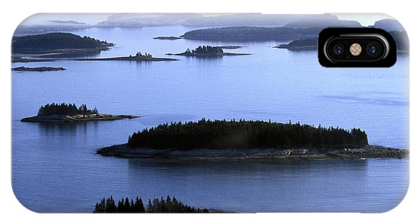 Shrouds iPhone Case - Aerial View Of The Deer Island by David McLain