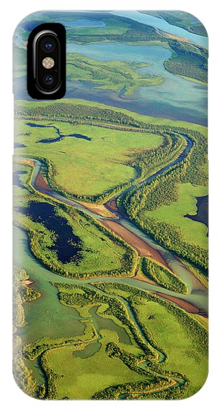 Delta iPhone Case - Aerial View Of The Rapa Valley by Bjorn Svensson/science Photo Library