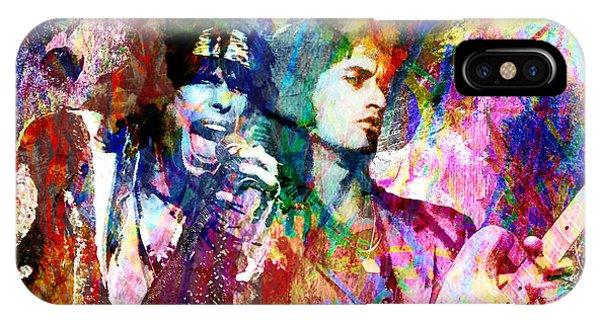 Steven Tyler iPhone Case - Aerosmith Original Painting by Ryan Rock Artist