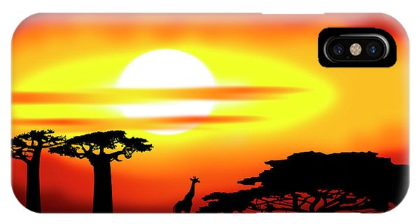 Africa Sunset IPhone Case