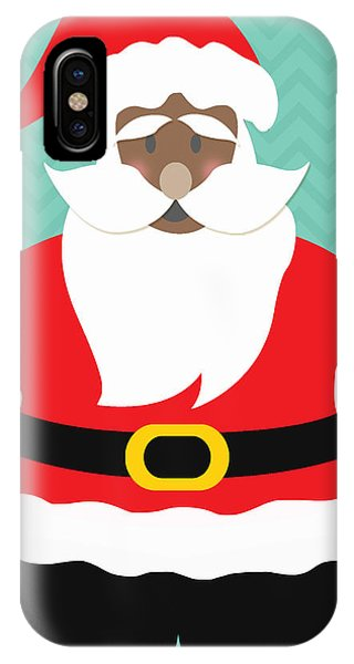 African-american iPhone Case - African American Santa Claus by Linda Woods