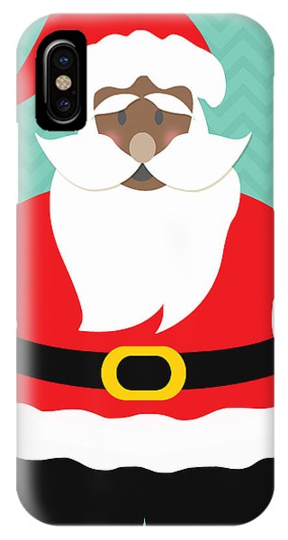 Coat iPhone Case - African American Santa Claus by Linda Woods