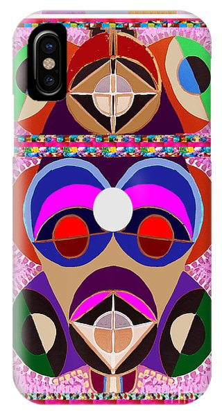 Rights Managed Images iPhone Case - African Art Style Mascot Wizard Magic Comedy Comic Humor  Navinjoshi Rights Managed Images Clawn    by Navin Joshi