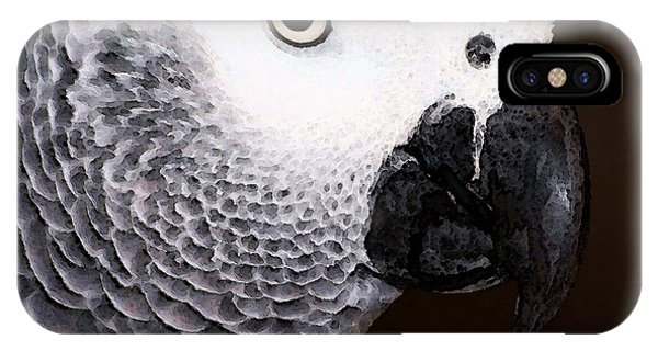 African Gray Parrot Art - Seeing Is Believing IPhone Case