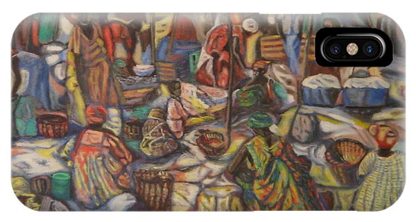 African Market IPhone Case