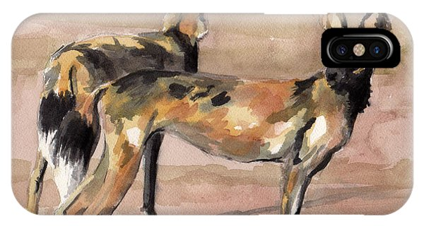 African Painted Dogs IPhone Case