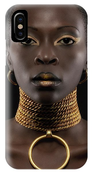 Necklace iPhone Case - African Queen by Maurice De Vries