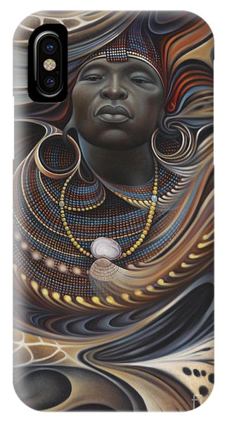 Africa iPhone X Case - African Spirits I by Ricardo Chavez-Mendez
