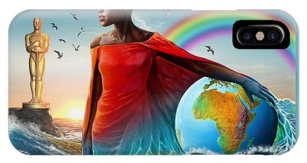 Lupita iPhone Case - The Lupita Tsunami by Anthony Mwangi