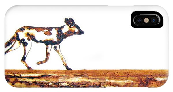 Endangered African Wild Dog - Original Artwork IPhone Case