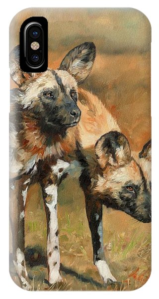 iPhone Case - African Wild Dogs by David Stribbling