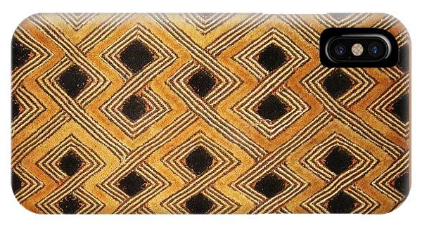 African Zaire Congo Kuba Textile IPhone Case