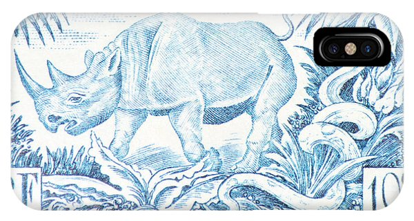 Afrique Rhino IPhone Case