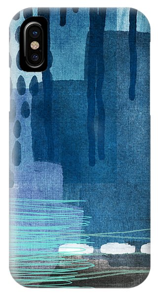 Abstract Landscape iPhone Case - After Rain- Contemporary Abstract Painting  by Linda Woods