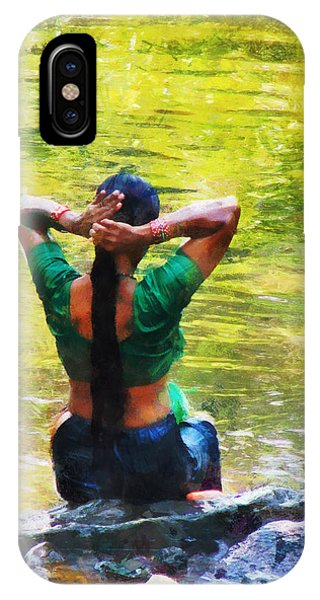 After The River Bathing. Indian Woman. Impressionism IPhone Case