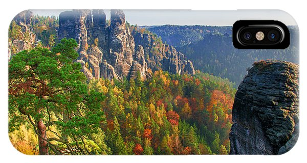 After The Sunrise On The Bastei IPhone Case