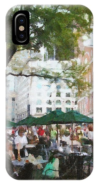 Afternoon At Faneuil Hall IPhone Case
