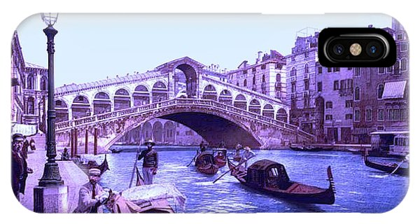 Afternoon At The Rialto Bridge Venice Italy II Phone Case by L Brown