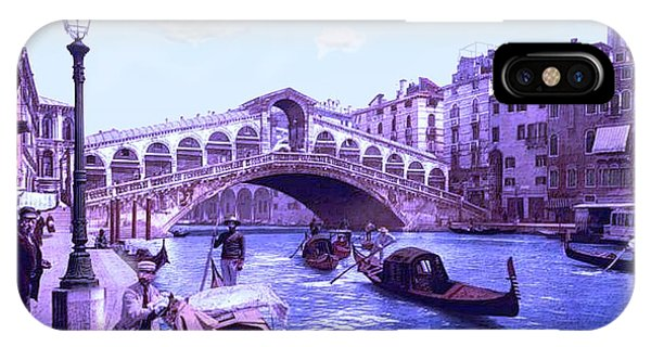 Afternoon At The Rialto Bridge Venice Italy Phone Case by L Brown