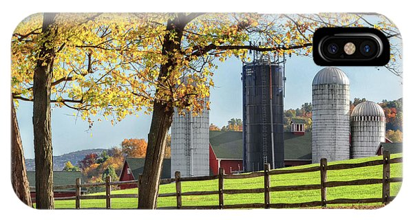 New England Barn iPhone Case - Afternoon Delight Square by Bill Wakeley