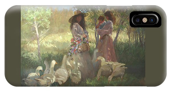 Betty Billups iPhone Case - Afternoon Gathering by Betty Jean Billups