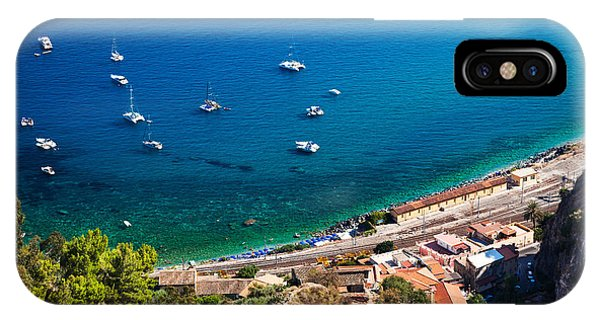 IPhone Case featuring the photograph Afternoon In Taormina by Brad Brizek