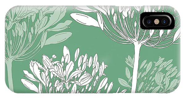 Pattern iPhone Case - Agapanthus Breeze by Sarah Hough