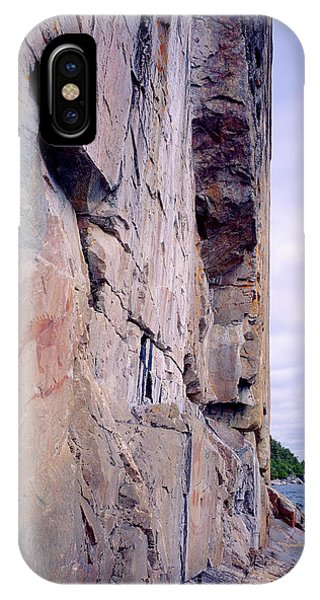 Agawa Indian Pictographs Phone Case by Tim Hawkins