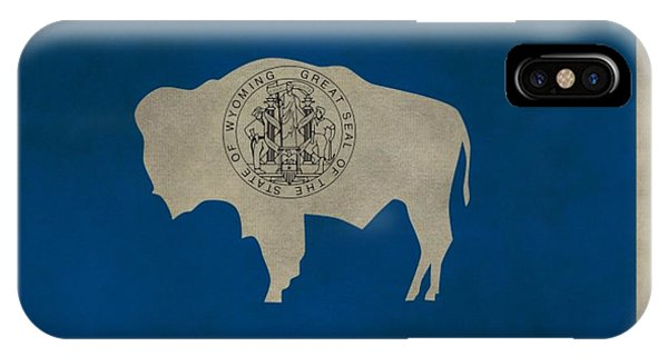 Aged Wyoming State Flag IPhone Case